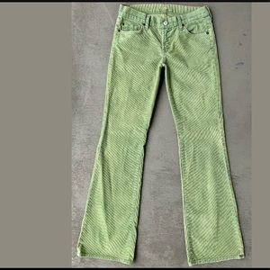 7-For-All-Mankind Distressed Corduroy Flared Pants